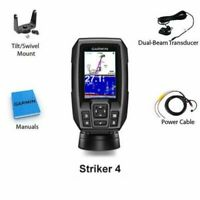 NEW Garmin STRIKER 4 Fishfinder with 4-Pin 77/200kHz TM Transducer 010-01550-00