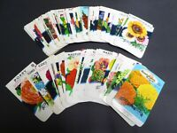 100 DIFF VINTAGE SEED PACKET LOT 1930-1970 FLOWERS GARDEN TEXAS GENERAL STORE