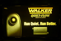 1998 Tenneco WALKER QUIET-FLOW MUFFLERS *LIGHTED SIGN DISPLAY Gas Oil *Man Cave