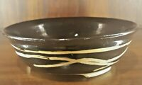 Bethel Pottery Sgrafitto Slipware Art Smal Black Glaze Cream Etched Bowl PX H-SS