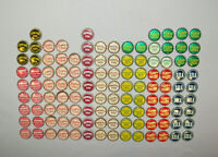 Old Antique Vtg Group Lot 115 Cork Lined Bottle Caps Raspberry Chaser Its Peachy