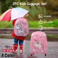 2Pcs Carry On Luggage Kids Rolling Suitcase Backpack wWheels Travel Trolley ABS