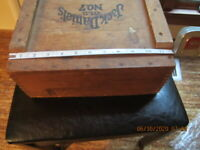 Vtg Jack Daniels Whiskey Old No. 7 Wood Dovetail Crate Box Lynchburg TN Wooden