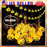 Halloween String Lights 10LEDs Pumpkin Decorations Outdoors Battery Operated