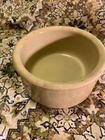 VTG RRP CO Roseville Ohio Pottery U.S.A. Old Stoneware Dog Bowl~6 1/4 in~