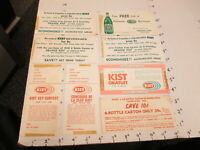 KIST soda 1960s store display sign bottle carton COUPON group (8) US Canada
