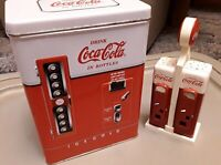 Coca Cola Salt and Pepper Shakers Vintage 1993 1997 Coca Cola Tin