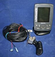 Lowrance Elite-3X  Fishfinder with wide angleTransducer and mounts