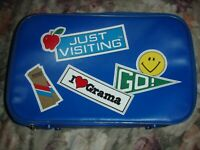 Vtg Child Just Visiting GRANDMA Soft Vinyl Luggage Suitcase EXCELLENT 1980S