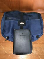 SAMSONITE TRAVEL TOILETRY COSMETIC BLUE BAG CASE WITH WALLET