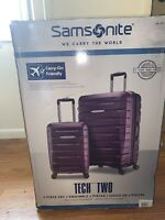 Samsonite Tech Two 2-piece Hardside Luggage Set Purple (27
