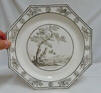 Antique French Faience Creil Plate Fables of La Fontaine 80591