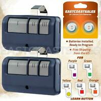 2 For Chamberlain LiftMaster Garage Door Opener Remote Blue 893LM 953EV P2 Learn $19.95