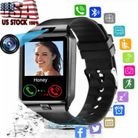 Waterproof Bluetooth Smart Watch w Cam Phone Mate For iphone IOS Android Samsung $21.71