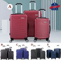 3 Piece Luggage Set Carry On Travel Trolley Suitcase ABS Nested Spinner Hardside