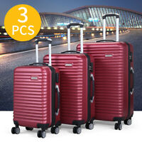 3 Piece Luggage Set Hardside With Carry On Bag Travel Trolley Suitcase Spinner