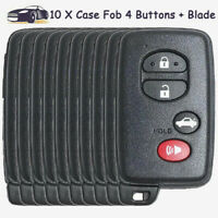 10 Smart Card Remote Key Case Shell Fob 4 Button for Toyota Avalon Camry Corolla $59.90