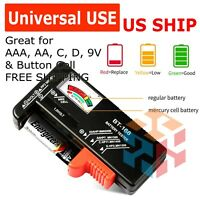 Battery Tester Checker Universal For AA AAA C D 9V 1.5V Button Cell Batteries US $5.35