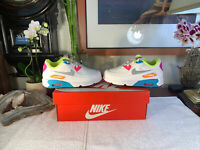 Pink Purple Blue Nike Air Max 90 Size 9c Toddler Youth Kids NEW PRISTINE Box