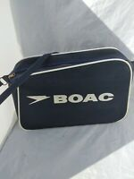 Vintage BOAC AIRLINE FLIGHT BAG Carry On Made in ENGLAND