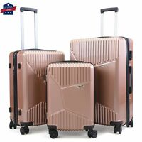 3 Piece Luggage Set ABS Travel Bag Suitcase Spinner Wheel TSA Lock 20quot;24quot;28quot;