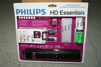 Philips TV Kit HDMI Cable Mircofiber Cloth LCD LED Screen Clean Surge Protector $35.09