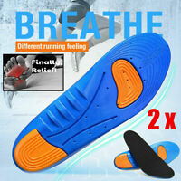 1 Pair Gel Orthotic Sport Running Insoles Insert Shoe Pad Arch Support Cushion $6.99