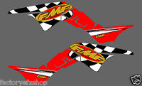 Honda TRX250R FMF Graphics Kit Fenders Plastics Decals Stickers 250R ATV trx Red