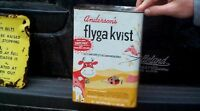 Vintage Flyga Kvist Cow Pig Fly farm Spray Can Sign Litchfield MN Des Moines IA