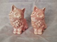 Vintage Brilliant Pink Cats Planter/Pot with White Sponge décor