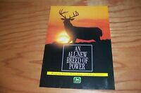 JOHN DEERE ALL NEW BREED OF POWER Tractor LITERATURE