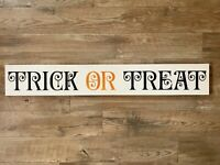 Trick Or Treat Sign | Halloween Decor | Happy Halloween Sign | Hand-painted Wood
