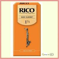 Rico Bass Clarinet 25 x Reeds, Strength 1.5 ( 1 1/2 ) 25-pack  REA2515