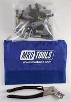 KSG4S25P 34 x 1 Cleco Side-Grip Clamps (SET OF 25) + Cleco Pliers wCarry Bag