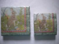 Easter Napkins Bunny Eggs Flowers 36 count 2 ply Cocktail or Luncheon Sizes