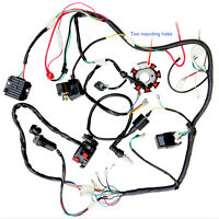 Full Motorcycle ELectrics Wiring Harness Loom Solenoid Coil 200cc ATV Quad Bike