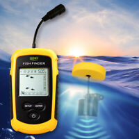 100M Portable Sonar Sensor Fish Finder Fishfinder Ultrasonic Echo Sounder w/LCD