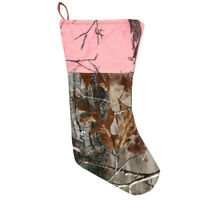 Realtree AP Camo & Pink Christmas Stocking