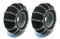 New PAIR 2 Link TIRE CHAINS 18x6.50x8 fit Can-Am UTV ATV 4-Wheeler Quad Vehicle