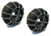New 2 Link TIRE CHAINS & TENSIONERS 18x6.5x8 for Kawasaki UTV ATV 4-Wheeler Quad