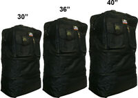 30quot; 36quot; 40quot; Black Expandable Rolling Duffel Bag Wheeled Spinner Suitcase Luggage