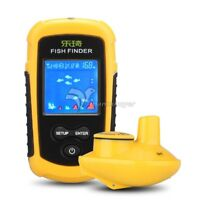 Portable Fish Finder Lucky  Wireless Sonar Depth Sounder with Alarm for Fishing