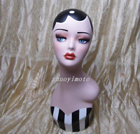 Fashion Hand-Painted Retro Female Mannequin Head For Wig /Necklace Display