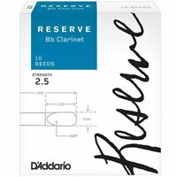 D'Addario Woodwinds Rico Reserve Bb Clarinet Reeds, Strength 2.5, 10-pack