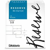 D'Addario Woodwinds Rico Reserve Bb Clarinet Reeds Strength 3 DCR1030 10-pack