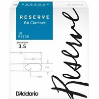 D'Addario Woodwinds Rico Reserve Bb Clarinet Reeds, Strength 3.5, 10-pack