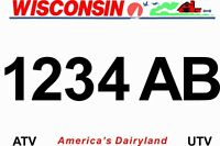 Wisconsin ATV  Plate~2019 Best Product/Seller!~Freaky Fast! Click On Video Below
