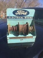 Vintage Rare Ford Motor Co Electrical Wire Display Rack Sign Gasoline Oil Gas