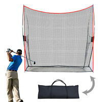 Portable 10'x9'x3' Net Practice Hitting Net Training Driving Indoor OutdoorSport