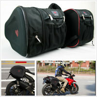 2X Oxford Cloth Motorcycle ATV Saddle Bags Luggage Helmet Tank Bags w/Rain Cover